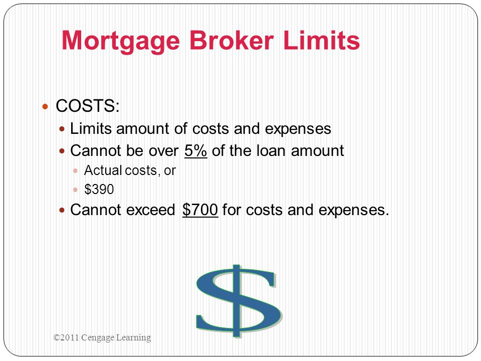 Mortgage Broker Limits