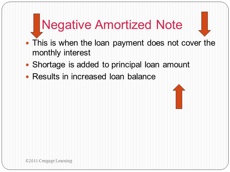 Negative Amortized Note