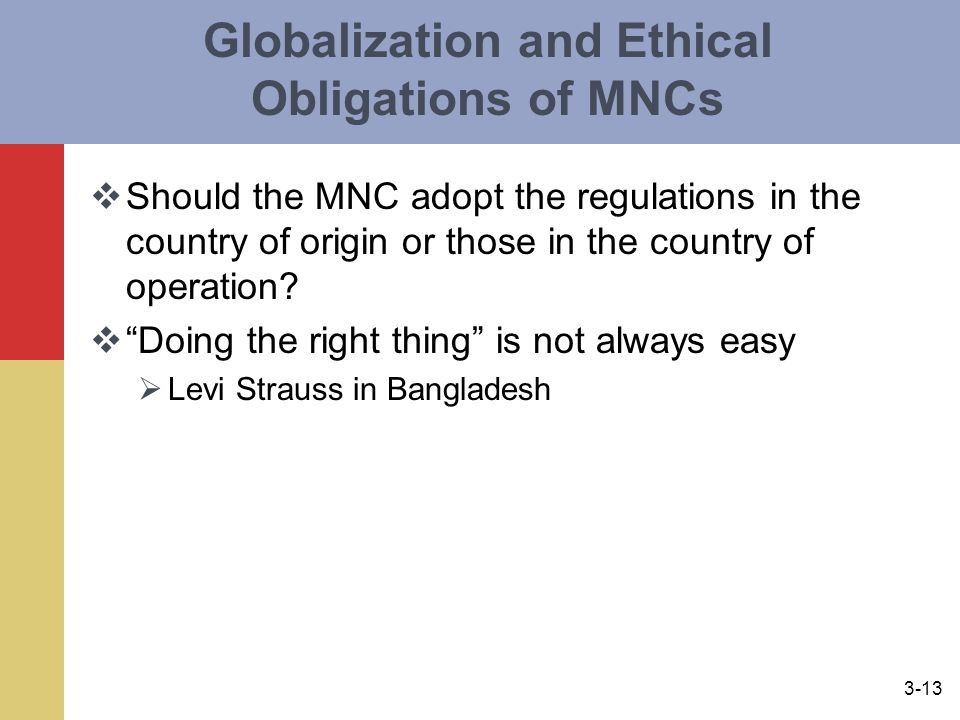 Globalization and Ethical Obligations of MNCs