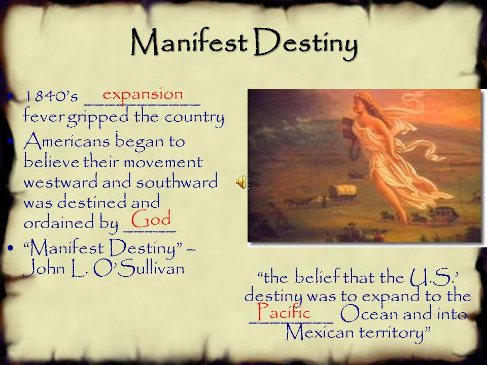 Manifest Destiny expansion