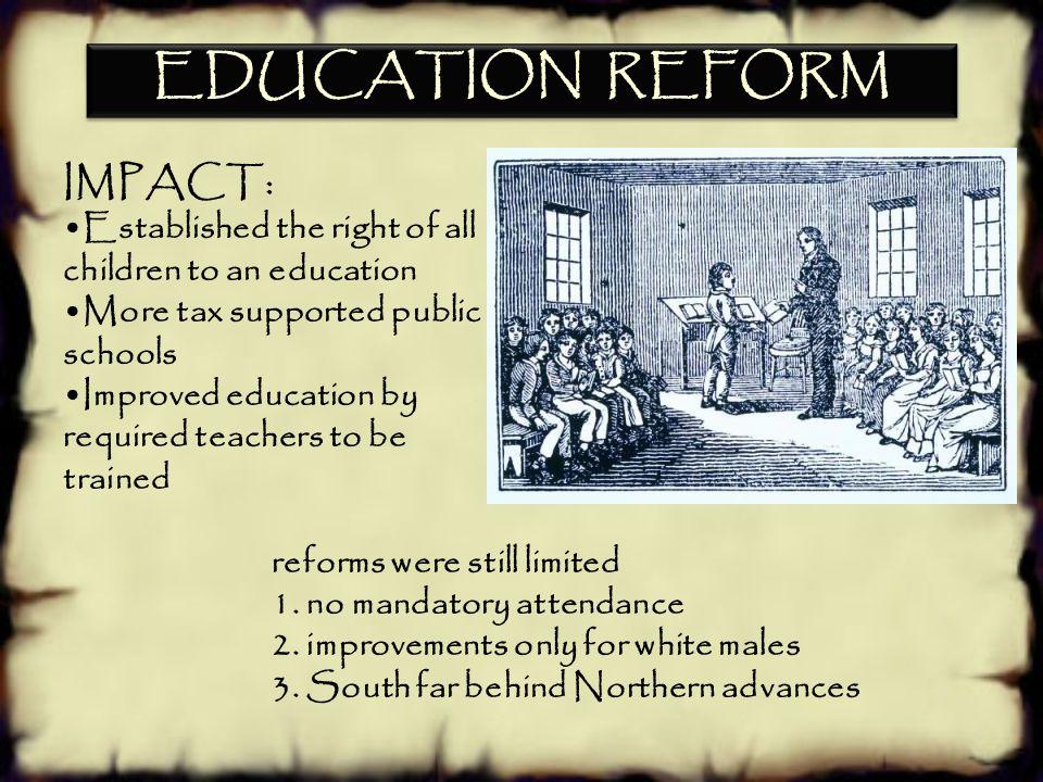 EDUCATION REFORM IMPACT: