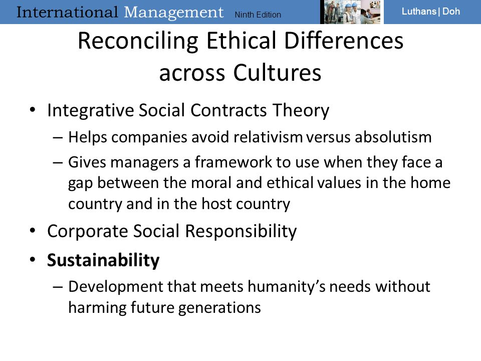 Reconciling Ethical Differences across Cultures