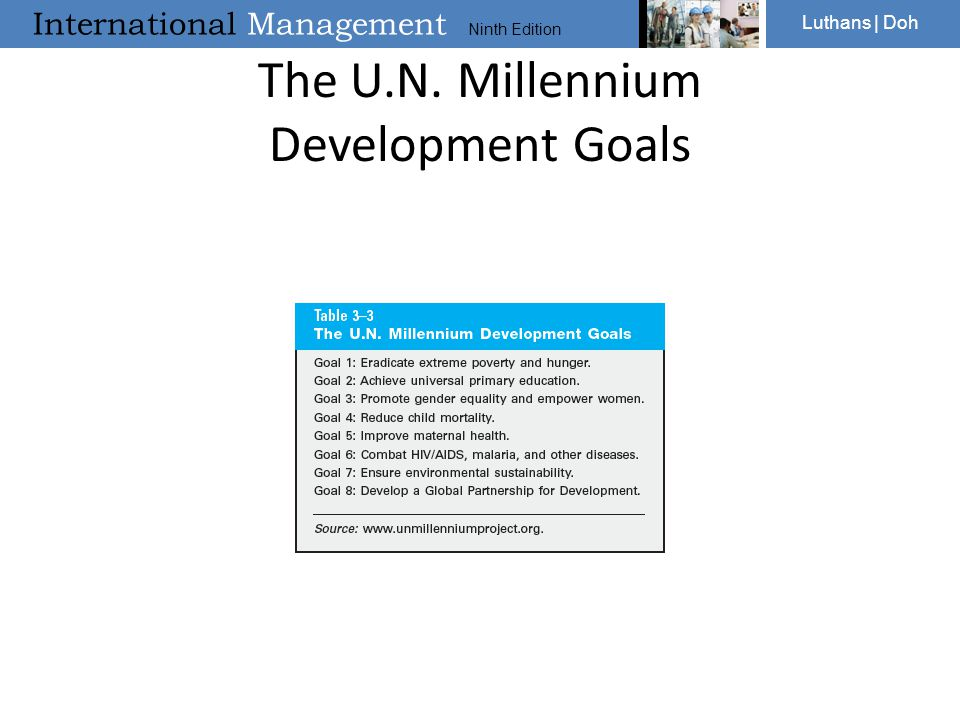 The U.N. Millennium Development Goals