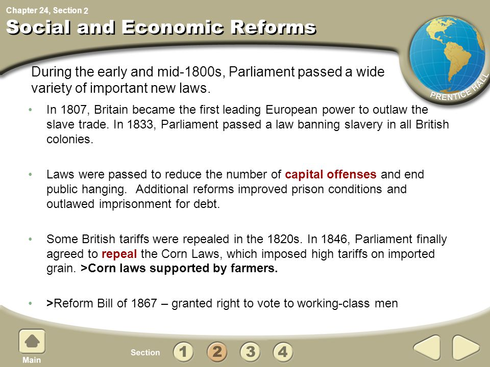 Social and Economic Reforms
