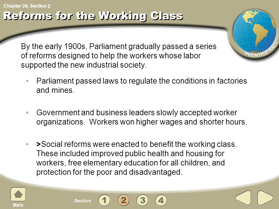 Reforms for the Working Class