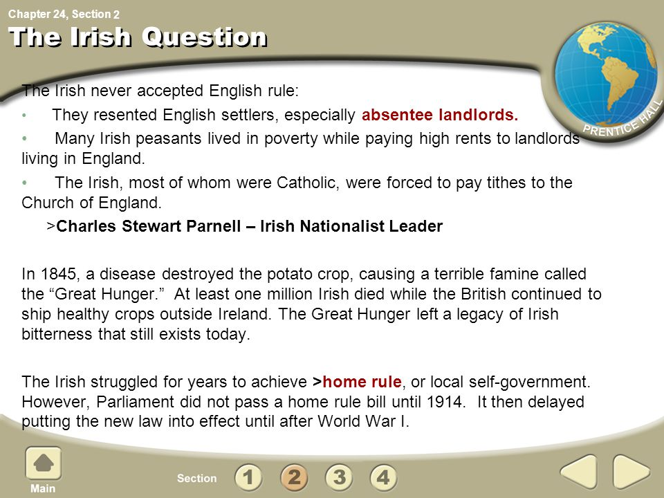 The Irish Question The Irish never accepted English rule: