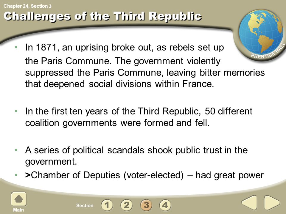 Challenges of the Third Republic