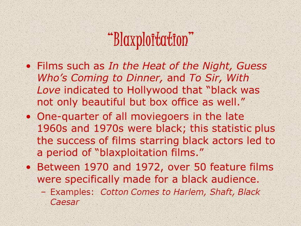 Blaxploitation