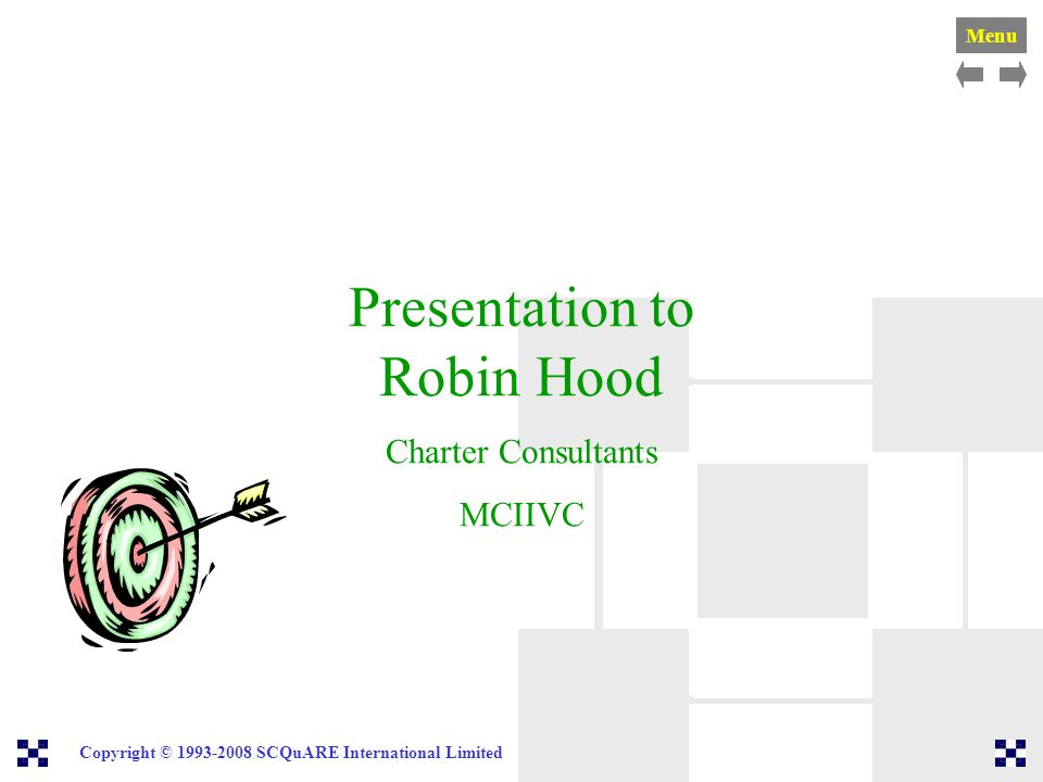 Presentation to Robin Hood