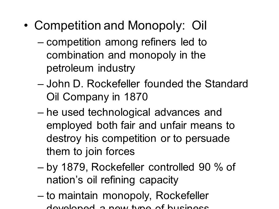 Competition and Monopoly: Oil