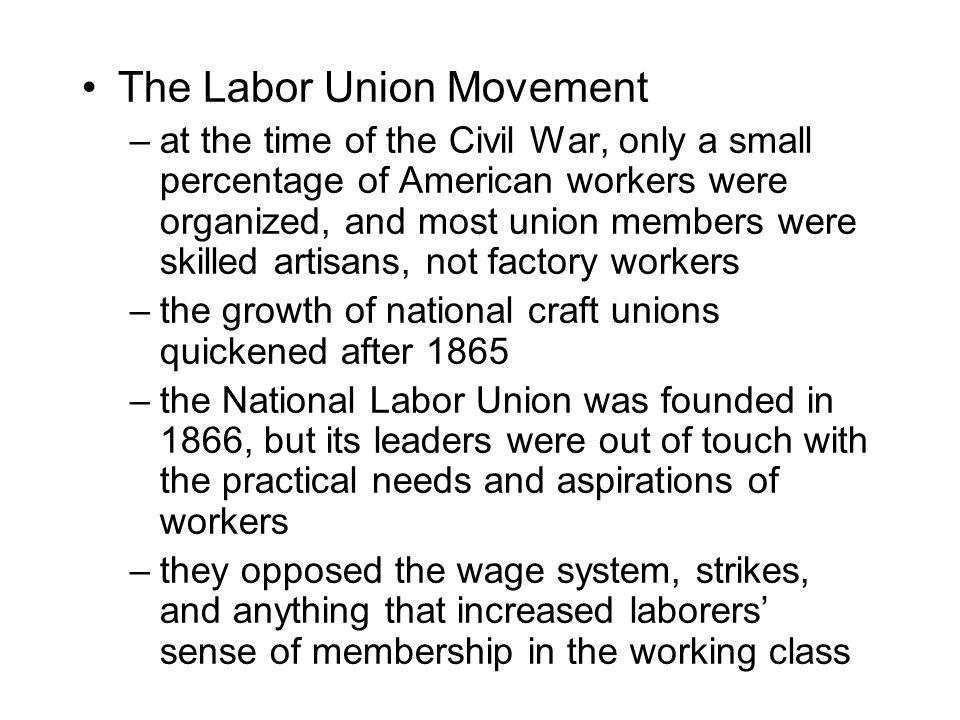 The Labor Union Movement