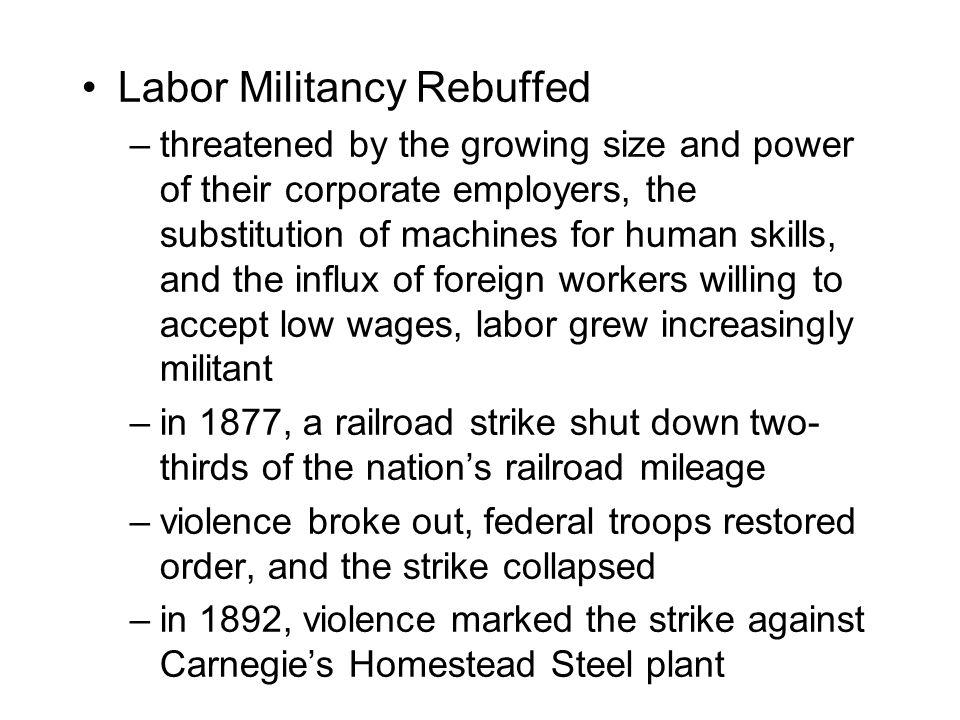 Labor Militancy Rebuffed