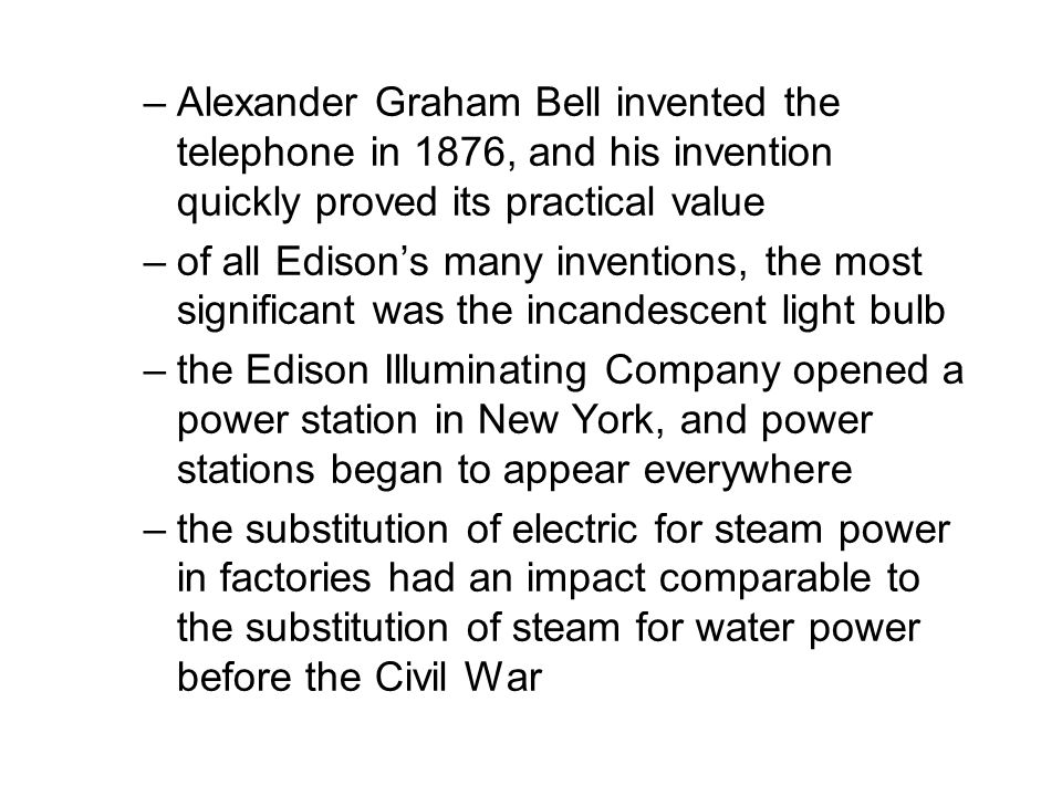Alexander Graham Bell invented the telephone in 1876, and his invention quickly proved its practical value