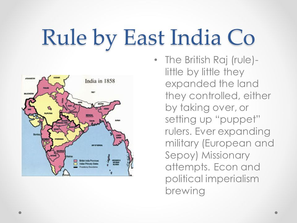 Rule by East India Co