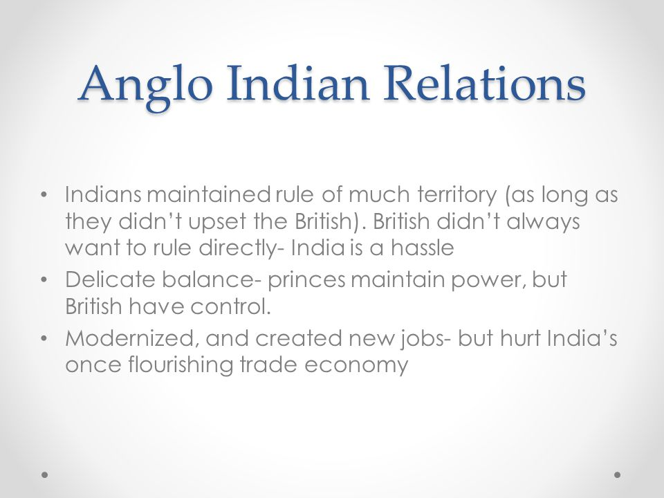Anglo Indian Relations