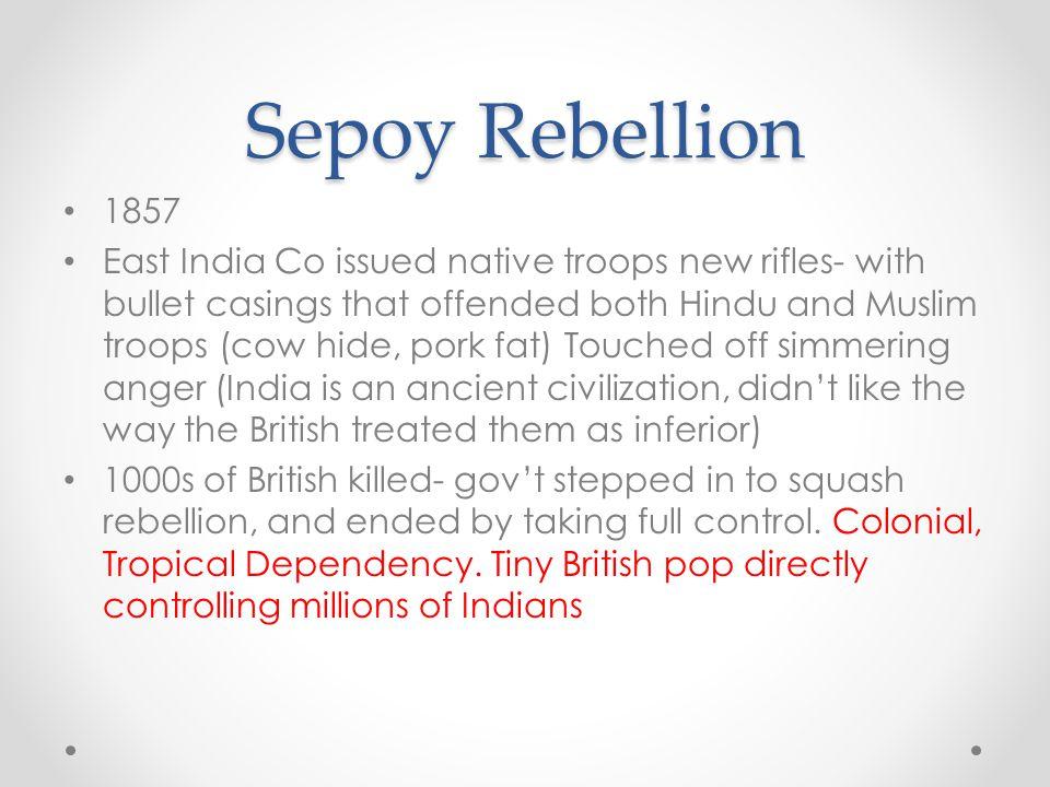 Sepoy Rebellion 1857.