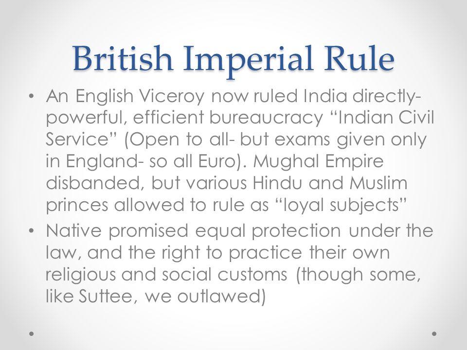 British Imperial Rule