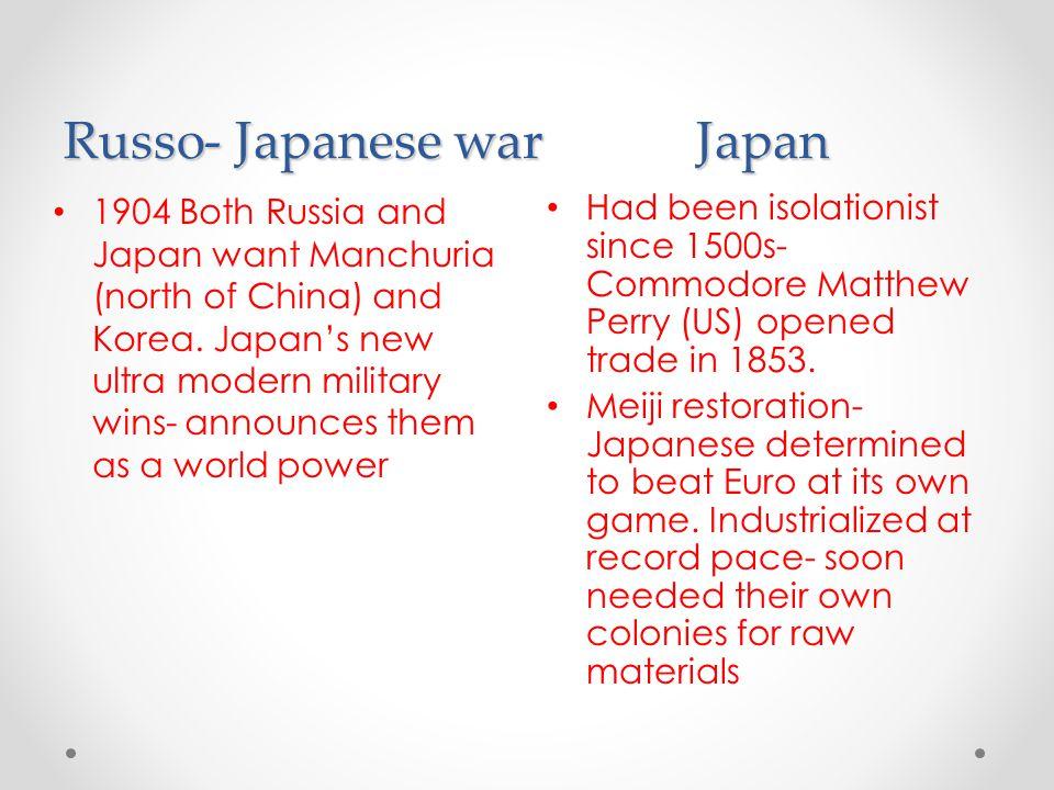 Russo- Japanese war Japan