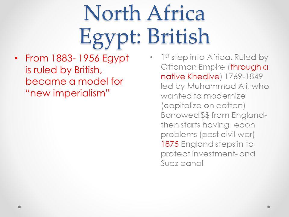 North Africa Egypt: British