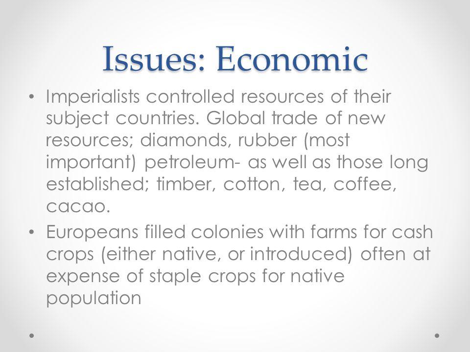 Issues: Economic