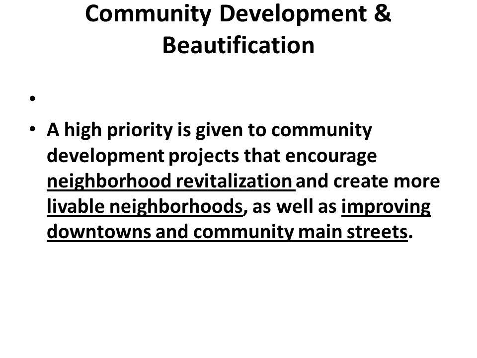 Community Development & Beautification