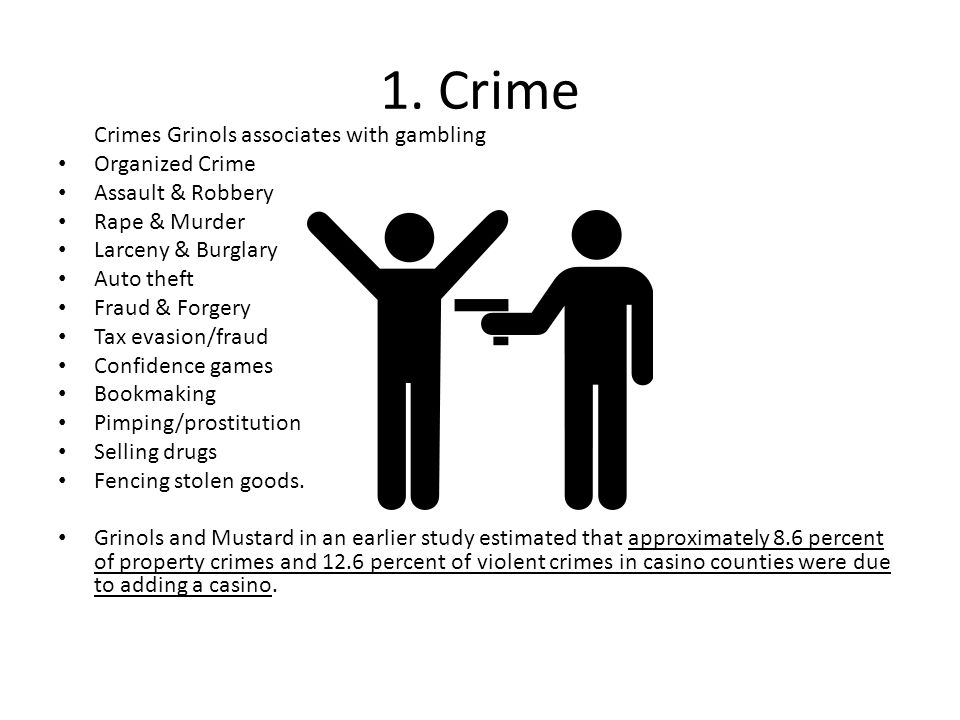 1. Crime Crimes Grinols associates with gambling Organized Crime