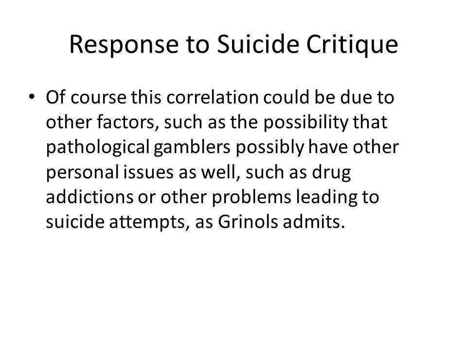 Response to Suicide Critique