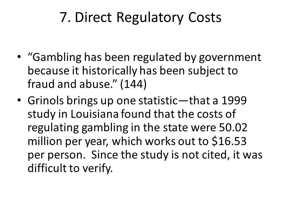 7. Direct Regulatory Costs