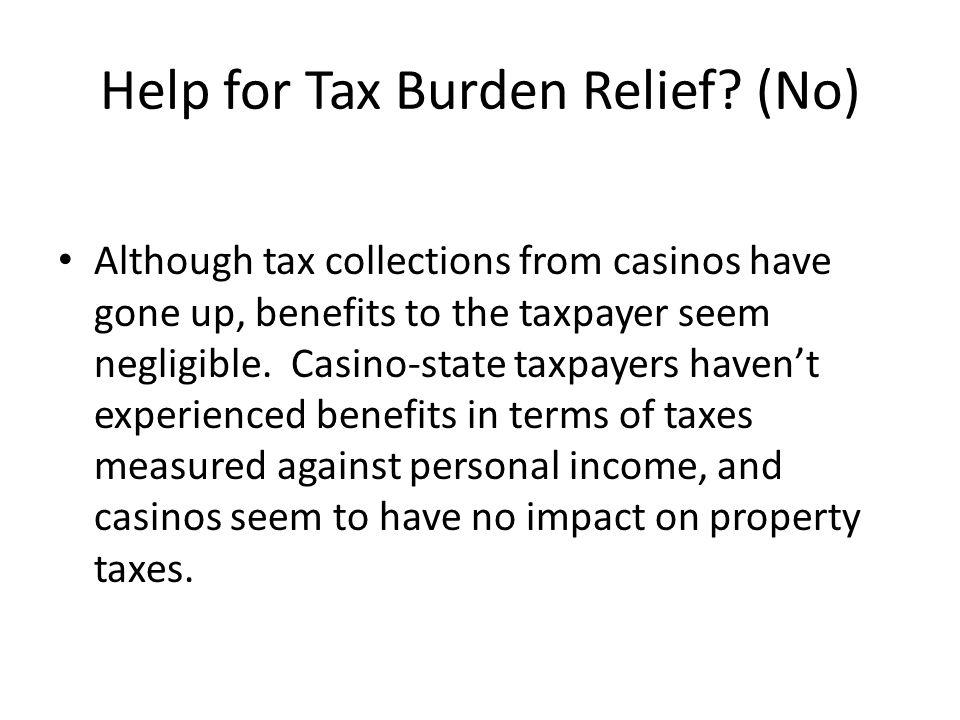 Help for Tax Burden Relief (No)