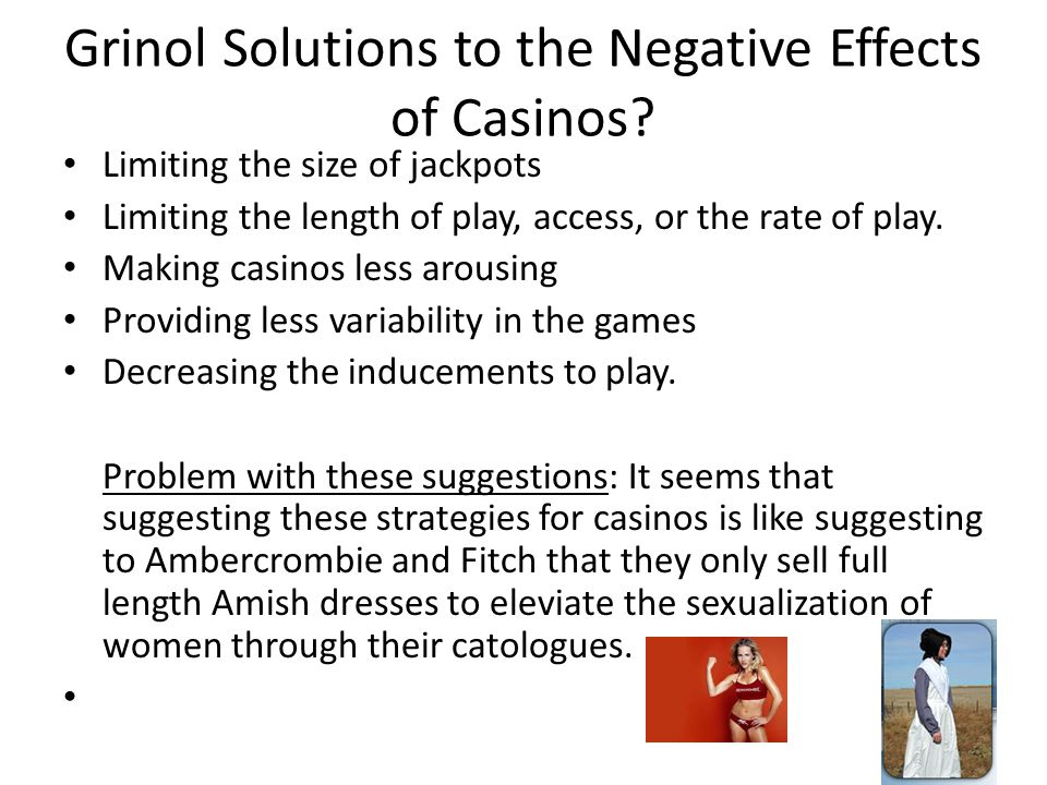 Grinol Solutions to the Negative Effects of Casinos