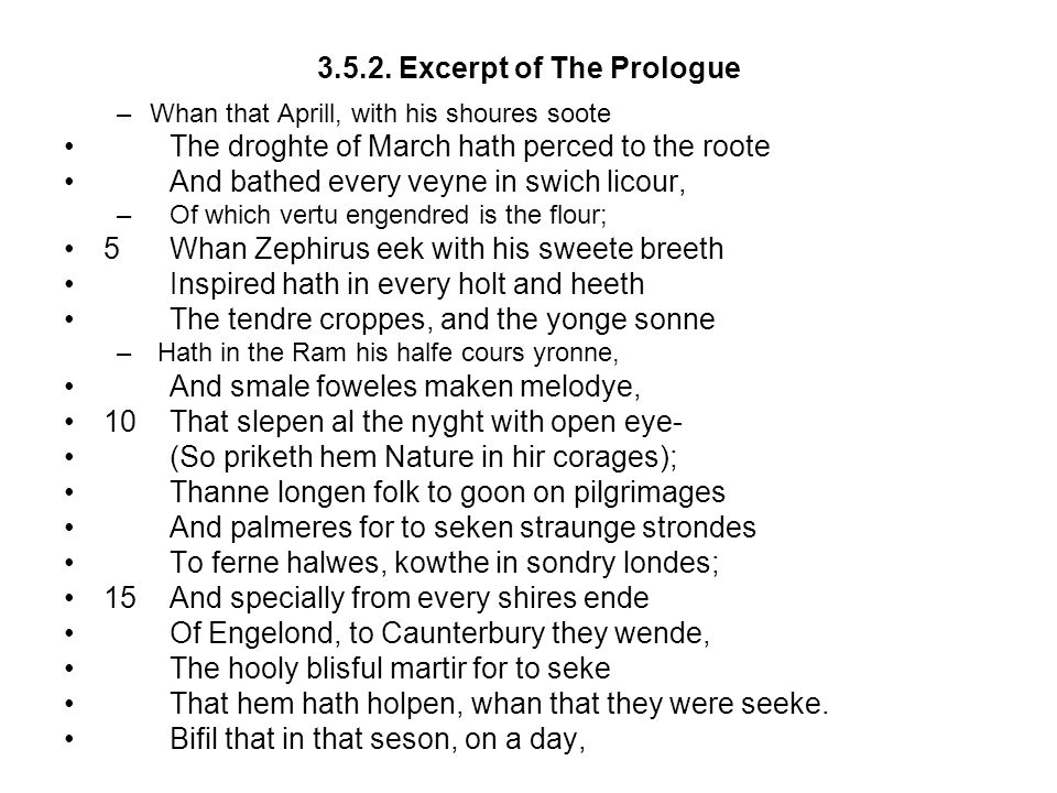 3.5.2. Excerpt of The Prologue