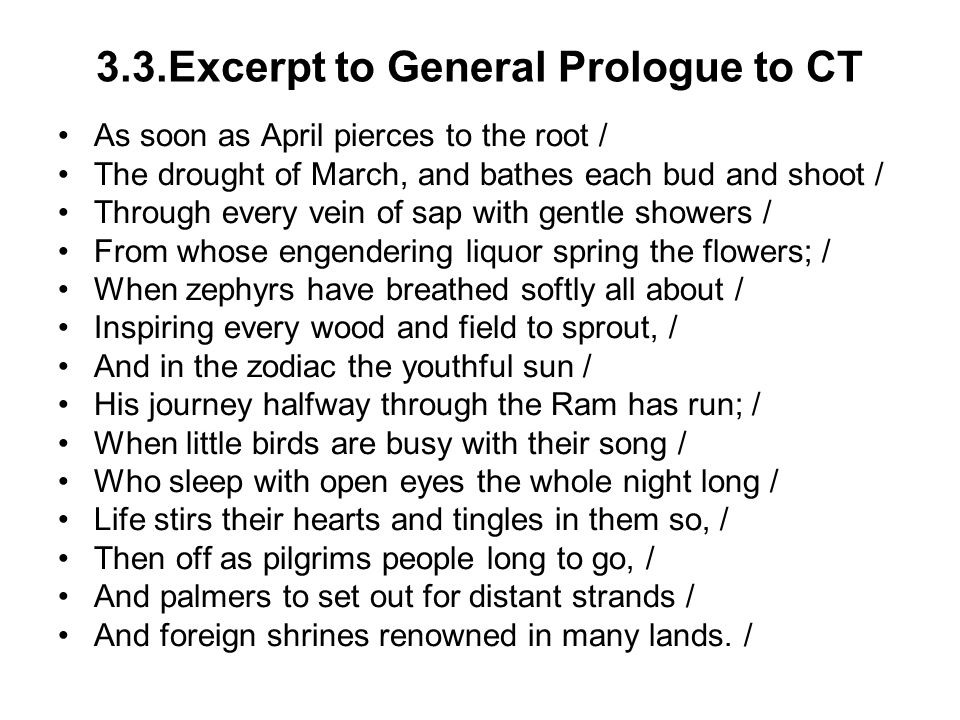 3.3.Excerpt to General Prologue to CT