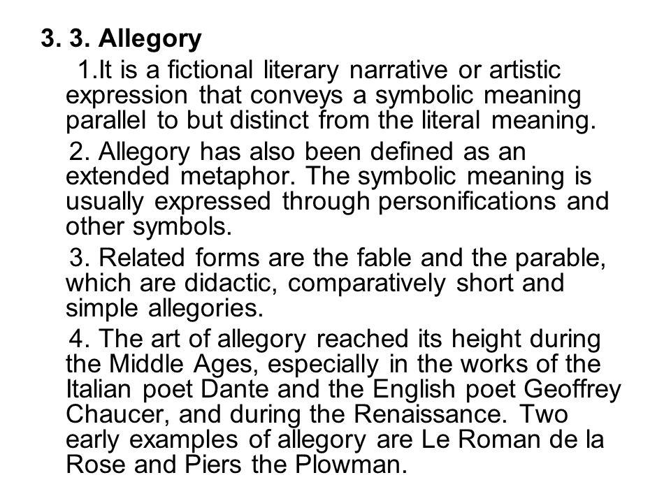 3. 3. Allegory