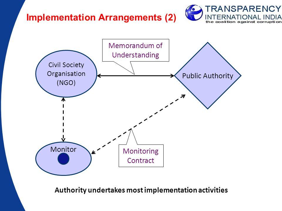Implementation Arrangements (2)