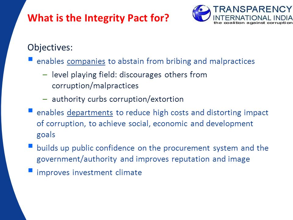 What is the Integrity Pact for