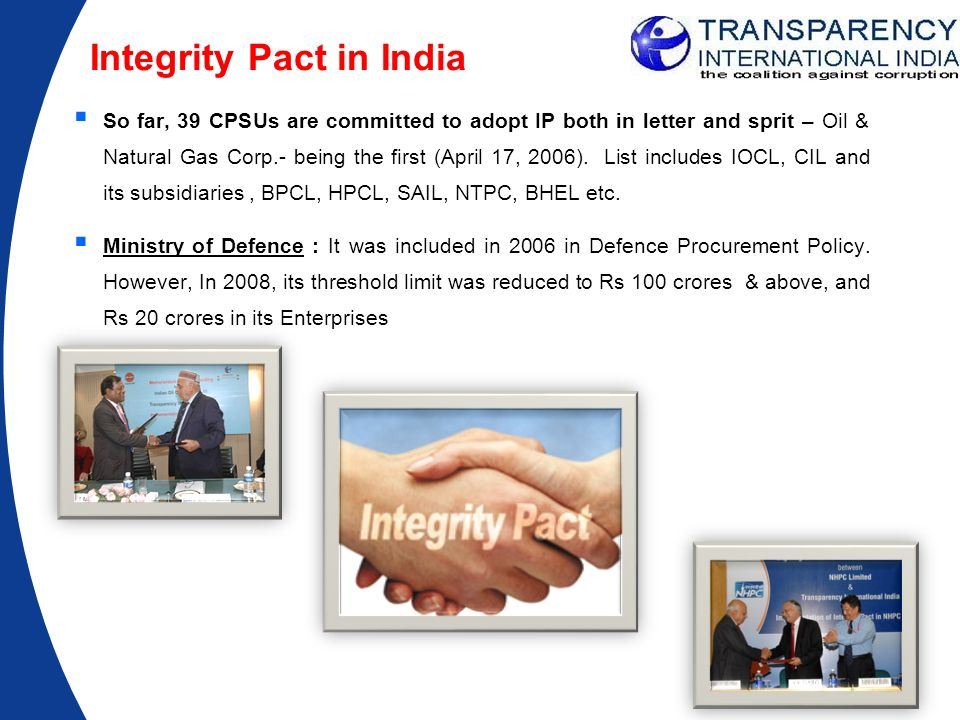 Integrity Pact in India