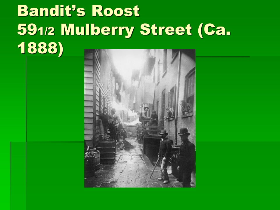 Bandit's Roost 591/2 Mulberry Street (Ca. 1888)