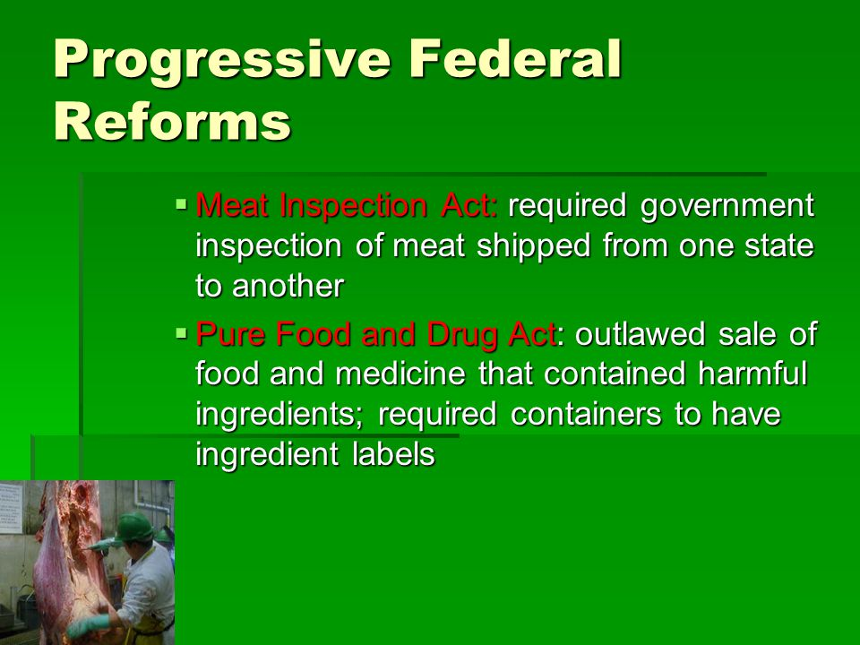 Progressive Federal Reforms
