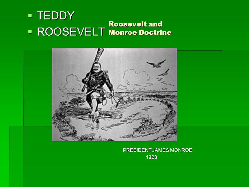 Roosevelt and Monroe Doctrine