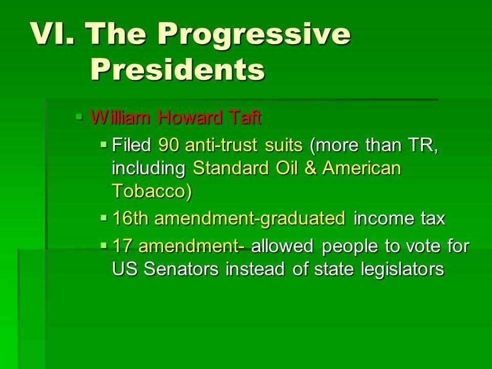 VI. The Progressive Presidents