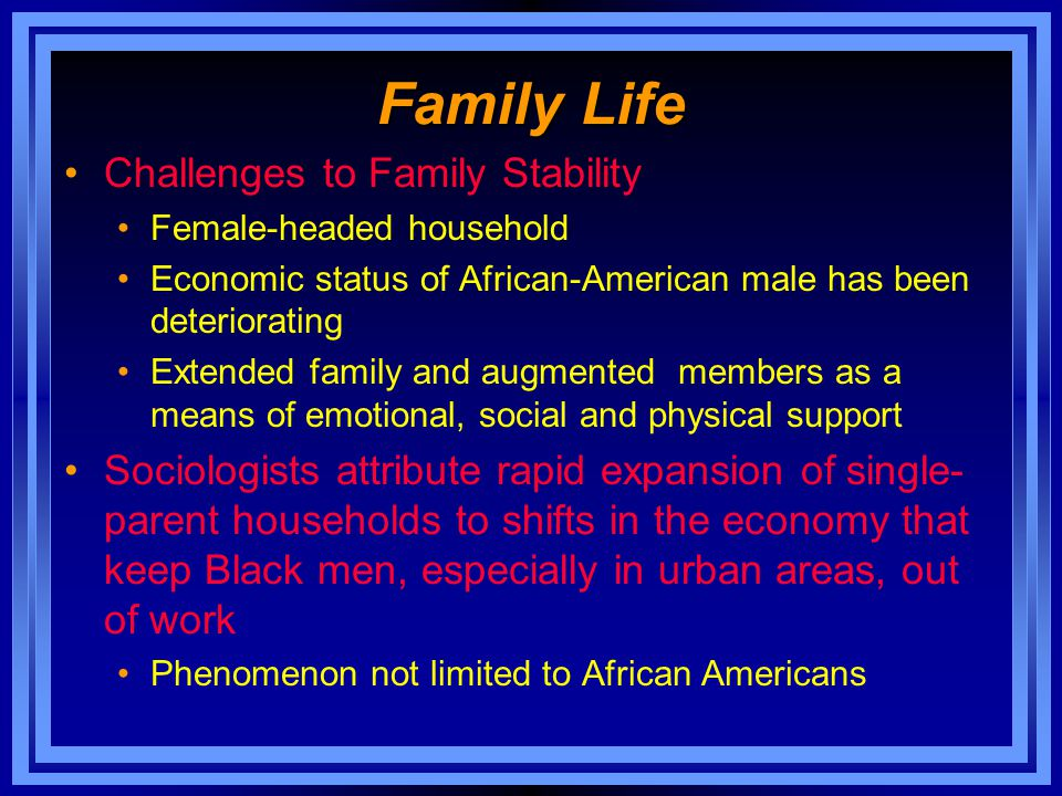 Family Life Challenges to Family Stability