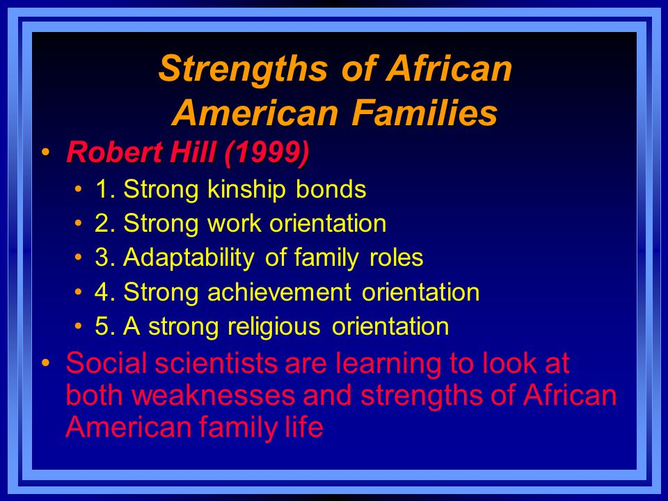 Strengths of African American Families