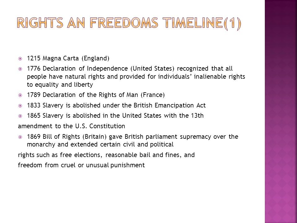 Rights an Freedoms Timeline(1)