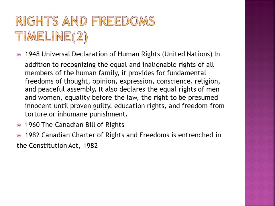 Rights and Freedoms TimeLine(2)