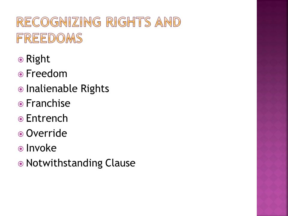 Recognizing Rights and Freedoms