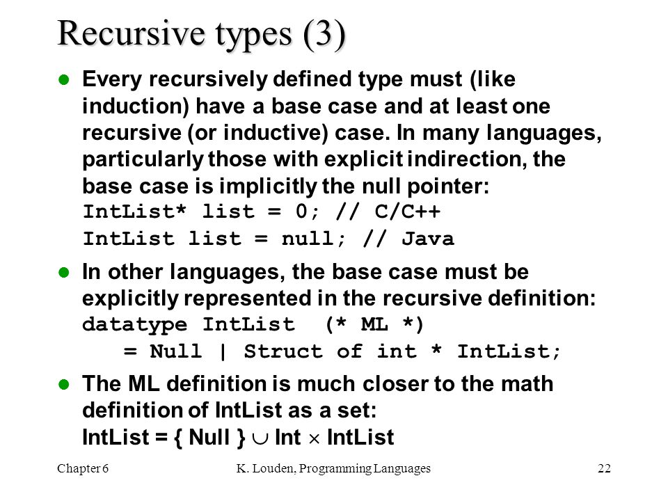 K. Louden, Programming Languages