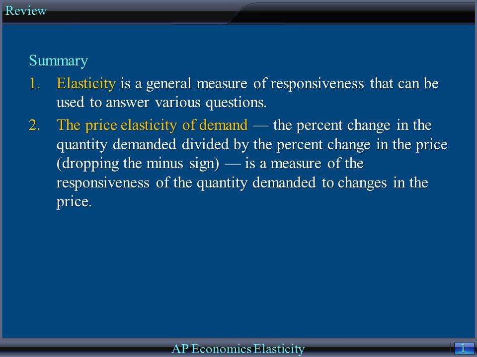 AP Economics Elasticity
