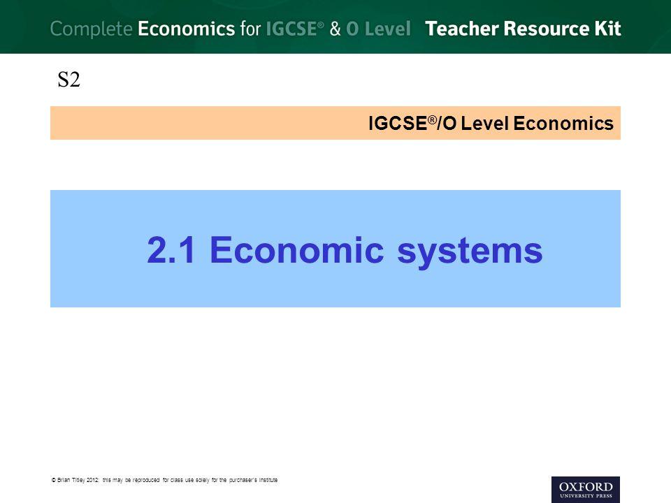 IGCSE O Level Economics