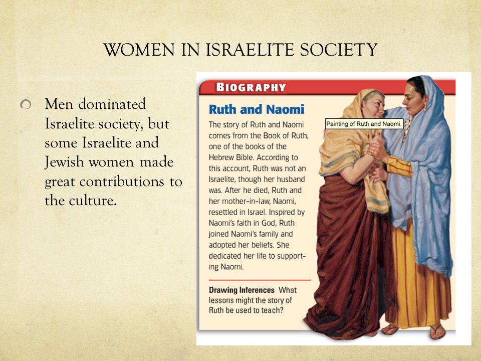 WOMEN IN ISRAELITE SOCIETY