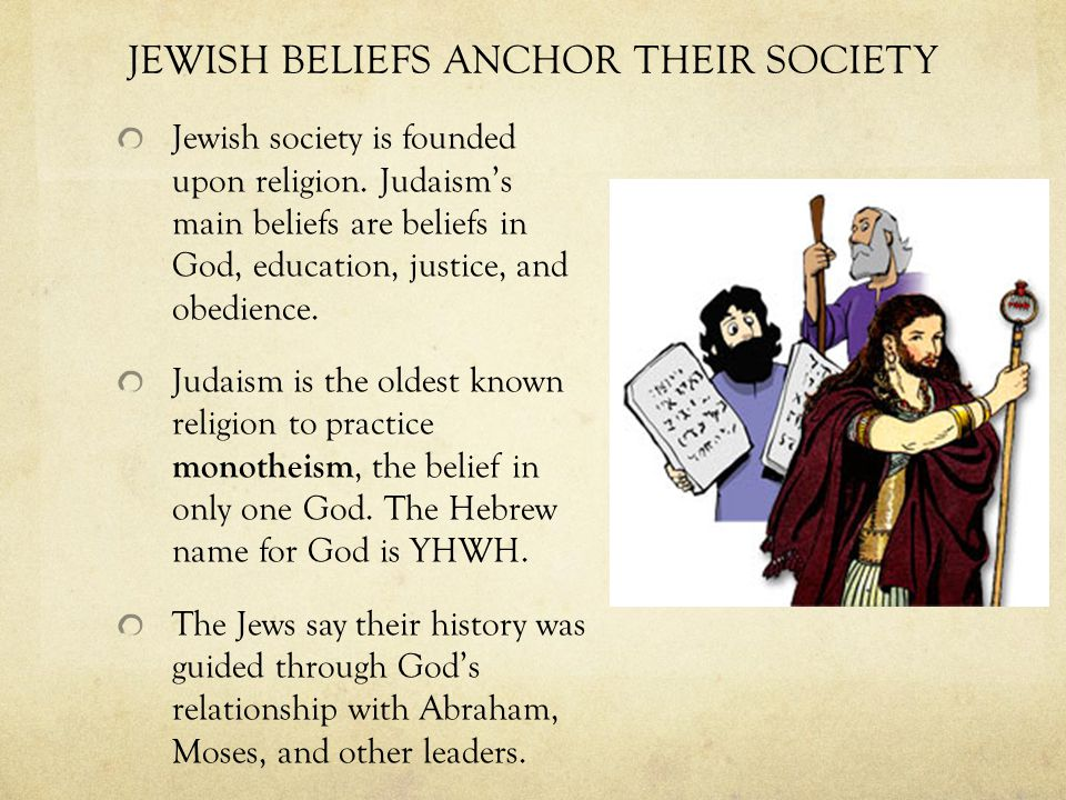 the early history of judaism and their beliefs Used by permission for bridging world history, 1 of the jewish people, their religion survived both in its was a contemporary of confucius in china and the early.